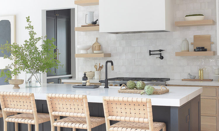 zdesignathome kitchen reveal of modern farmhouse kitchen - 3 cabinet colors