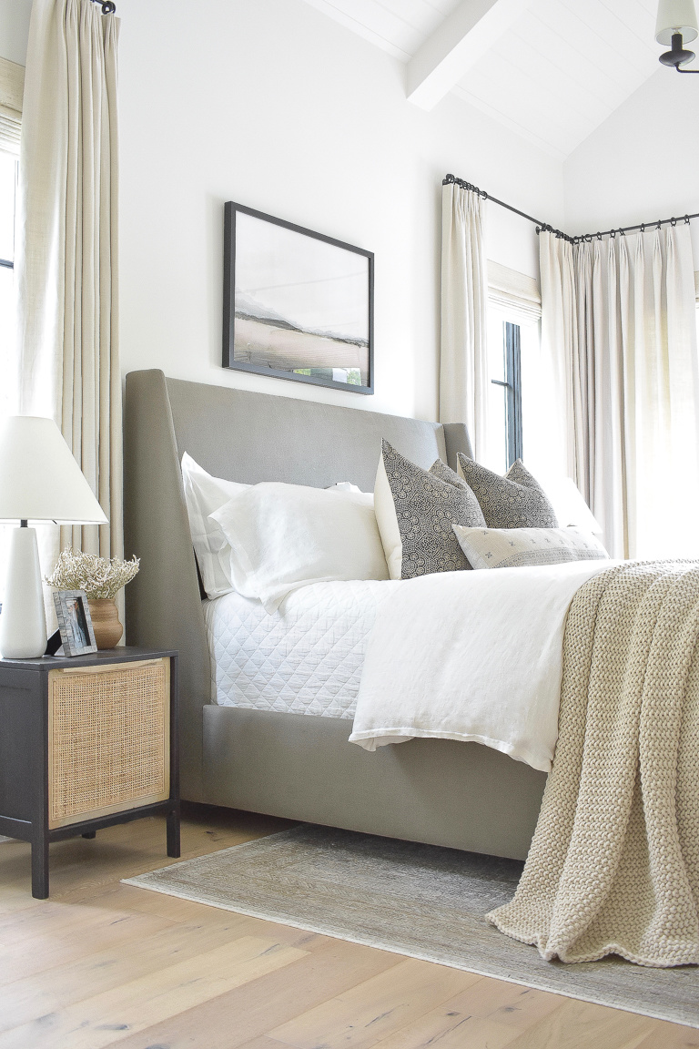 Simple Transitional Modern Fall Bedroom Tour