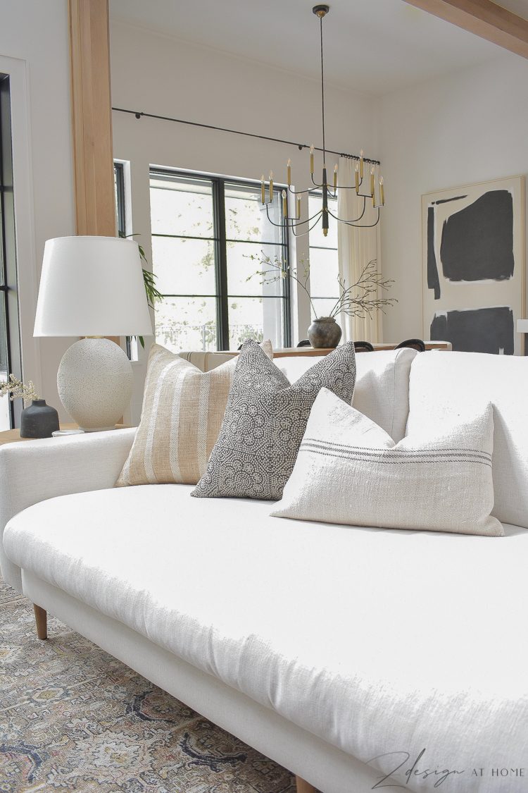 fall pillows styled on mcgee and co sofa