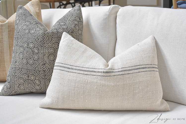 boho pillow cover in cream and black