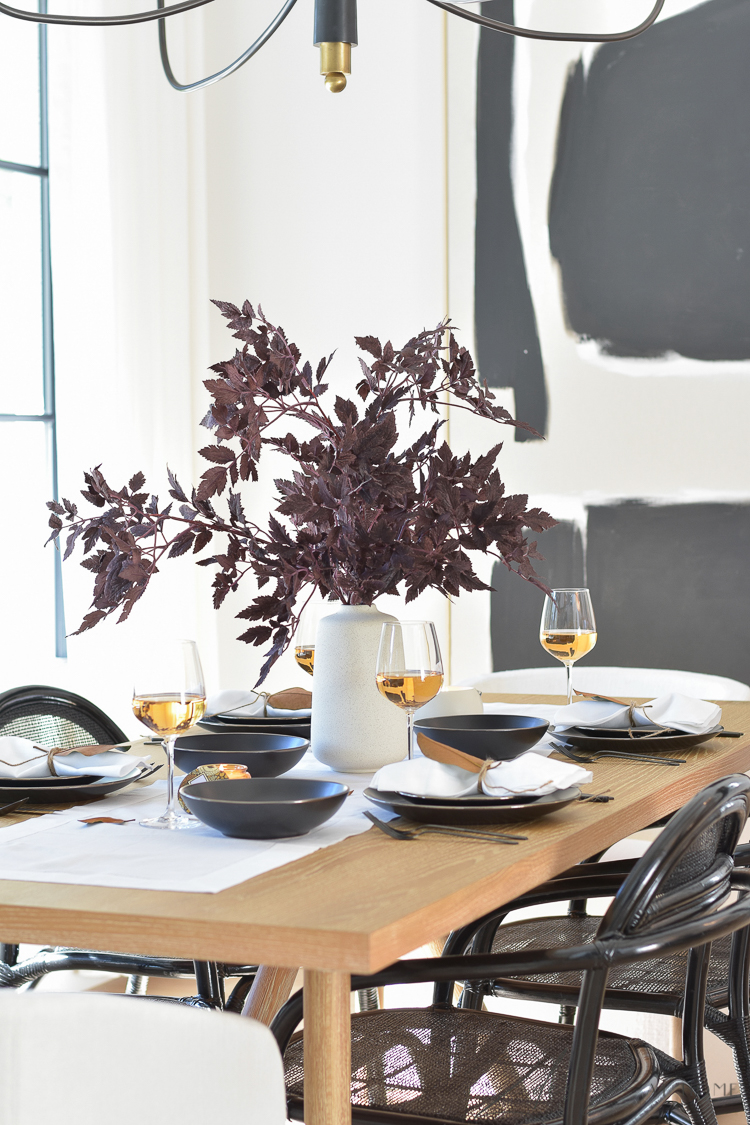 Scandinavian Inspired Fall to Thanksgiving Table Scape